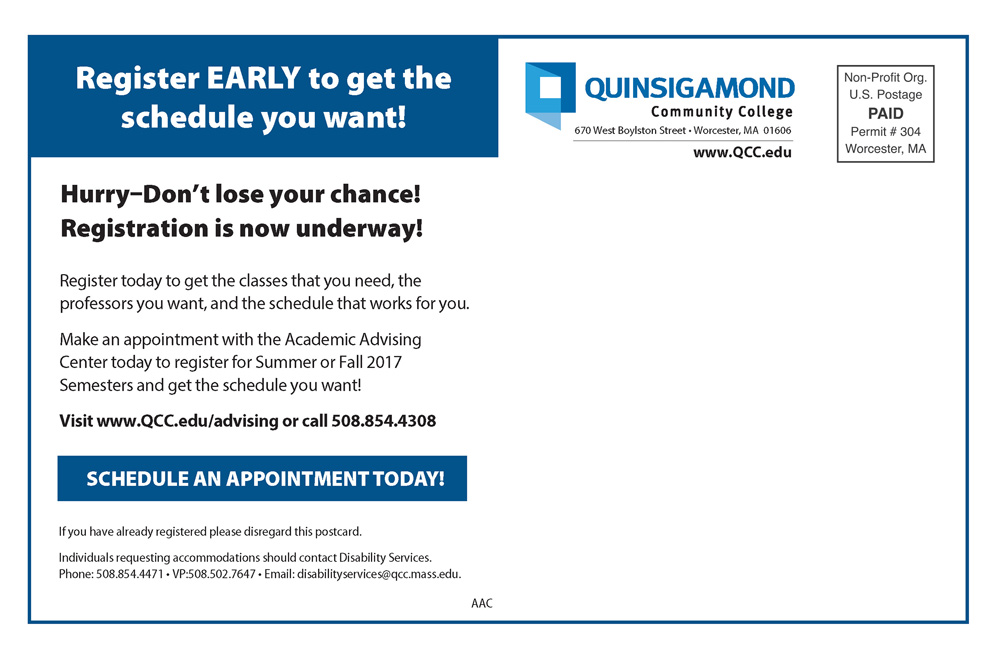 Marketing Collateral Page 3 Quinsigamond Community College Qcc