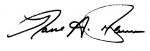 Northern Essex Community College president's signature