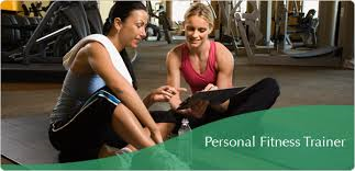 Woman working with personal fitness trainer