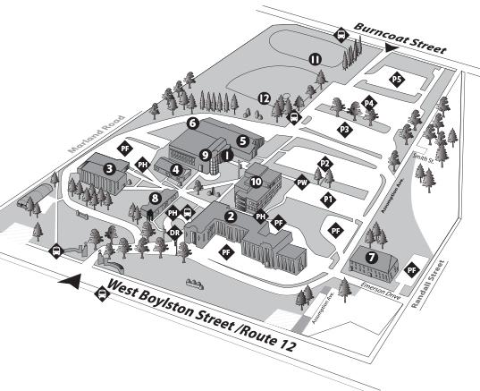 worcester university campus map Campus Map Quinsigamond Community College Qcc worcester university campus map