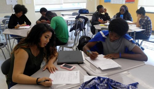 Students study in high school