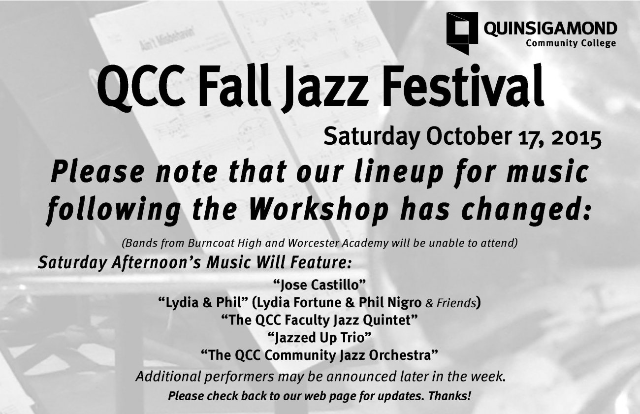 QCC Fall Jazz Festival Saturday October 17, 2015