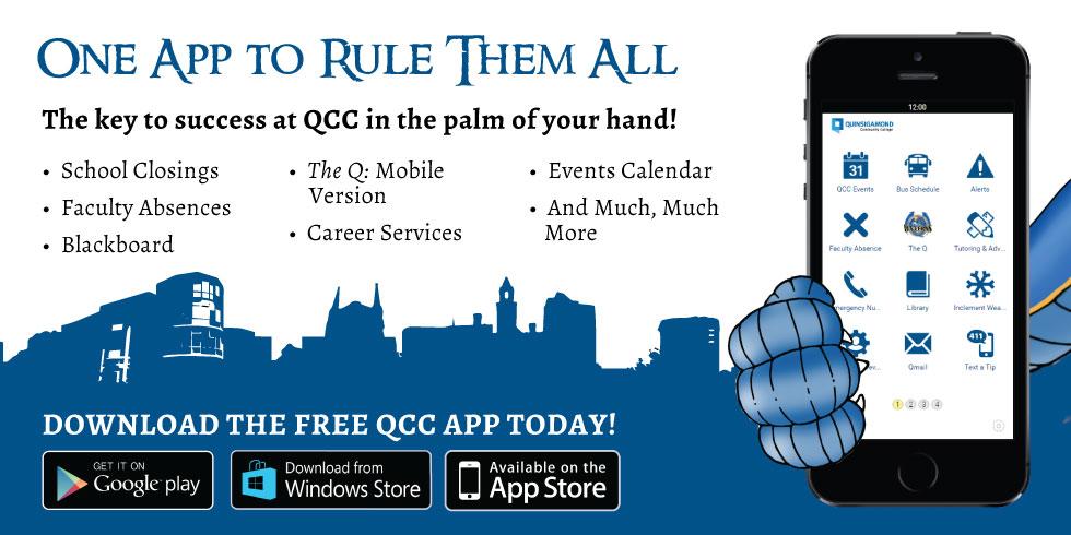 QCC Mobile App ad
