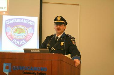 Chief of Police, Kevin Ritacco, lectures students