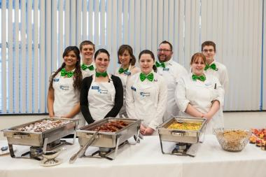 QCC foodservice students pose for group photo