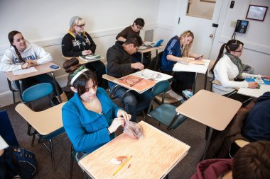 QCC students in classroom
