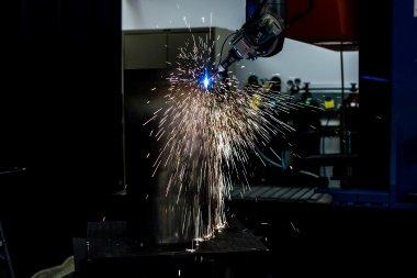 Photonics laser emits light