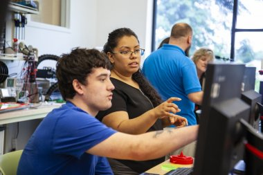 QCC instructor helps student