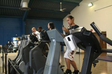 Students using facilities in the Athletics Center