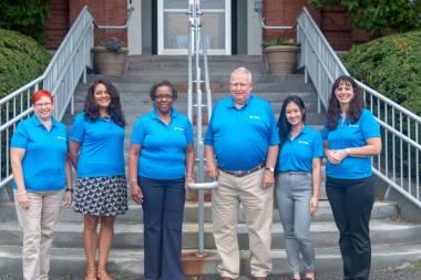 The team: Shirley Dempsey, Deborah Gonzalez, Karen Rucks, Barry Metayer, June Vo and Nicole Etcheverry