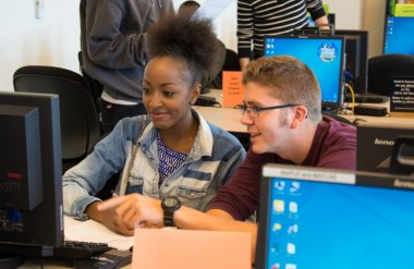 Student with peer tutor