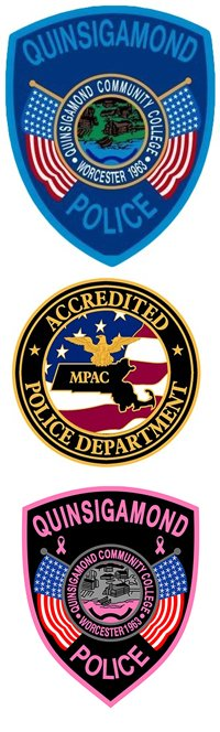 Quinsigamond Campus Police Badges