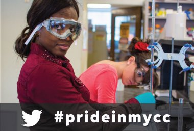 Pride in my Community College -- Woman working in Science Lab