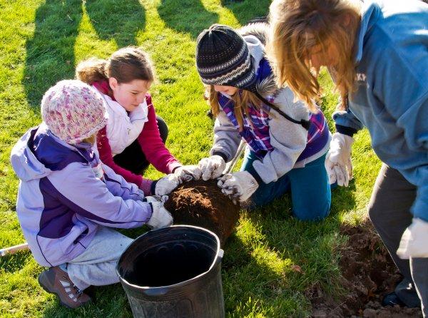 Children visiting campus at QCC event