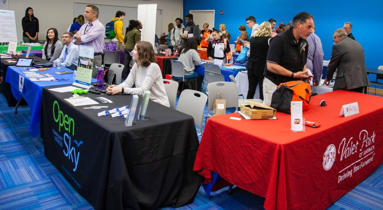Students stopped into the QCC Job Fair to learn about employment opportunities and career options.