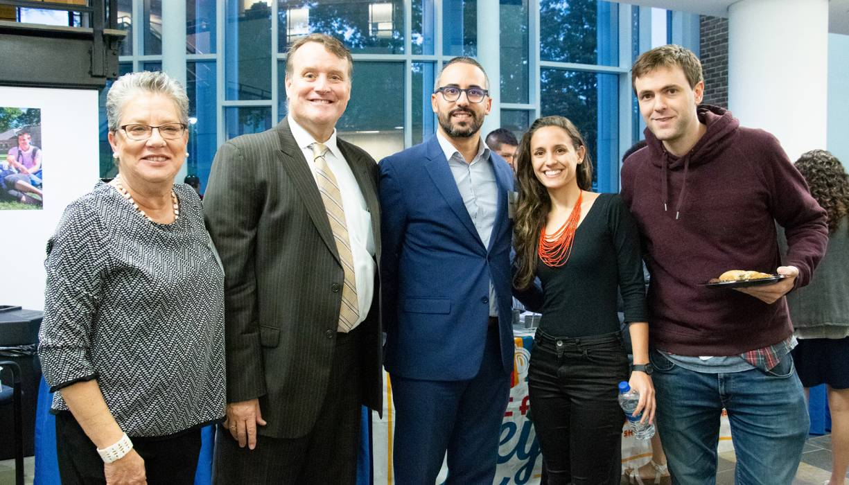 From left: Dolly Vazquez, Senator Michael Moore, Eric Batista, Sheila del Bosque, Nacho González Nappa