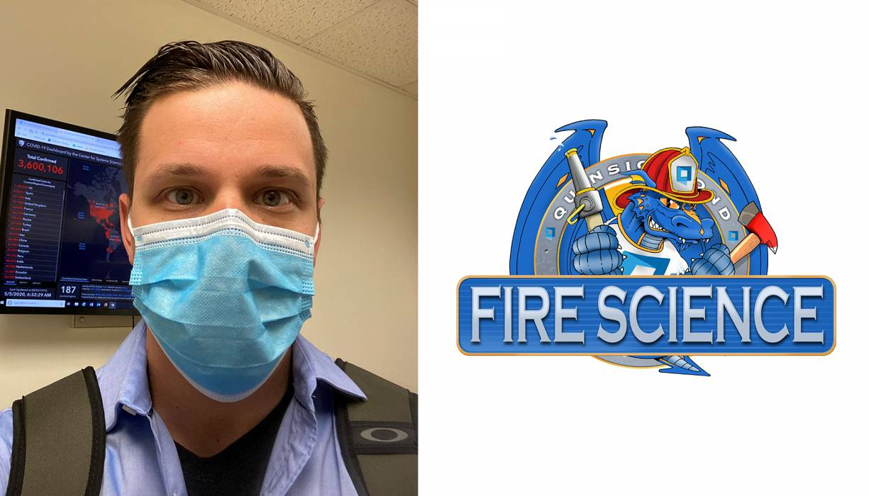 QCC Fire Science alumnus Brian Soucy