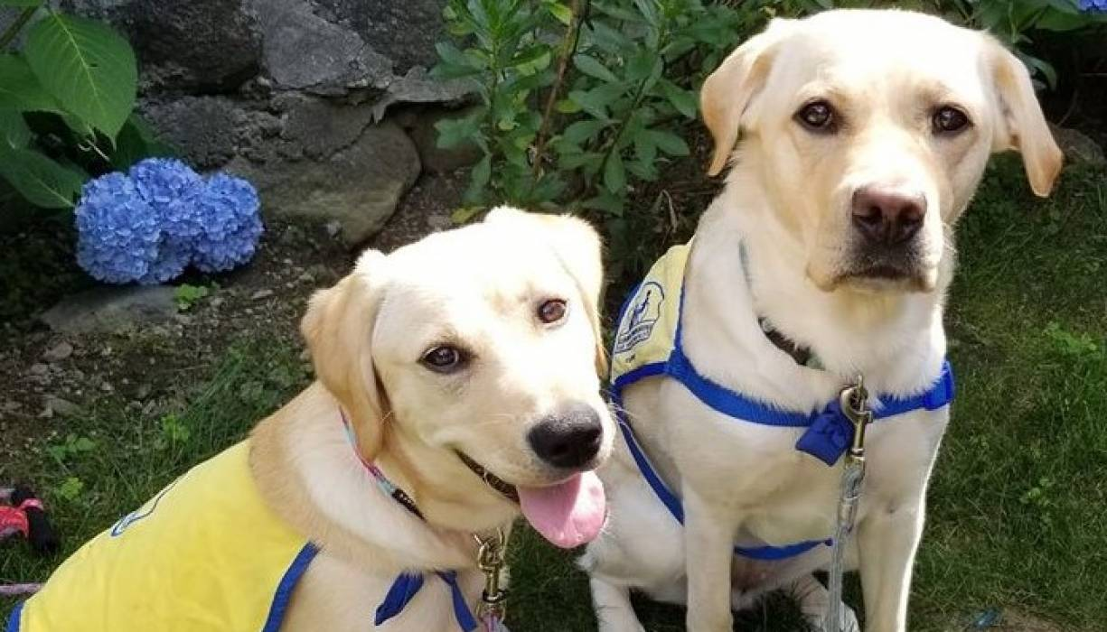 Lucey (front) and Brinley prepare for a lifetime of service.