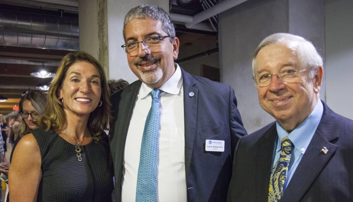 From left: Lt. Governor Karyn Polito, QCC President Dr. Luis Pedraja and Former State Senator Richard Moore.