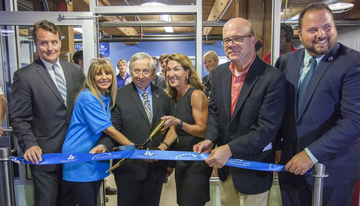 Ribbon-Cutting Ceremony for the new Blackstone Valley Education Hub.