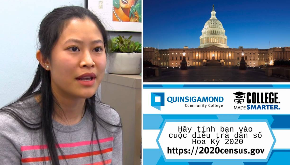 An example of one of QCC's census videos spoken in Vietnamese by My Nguyen.
