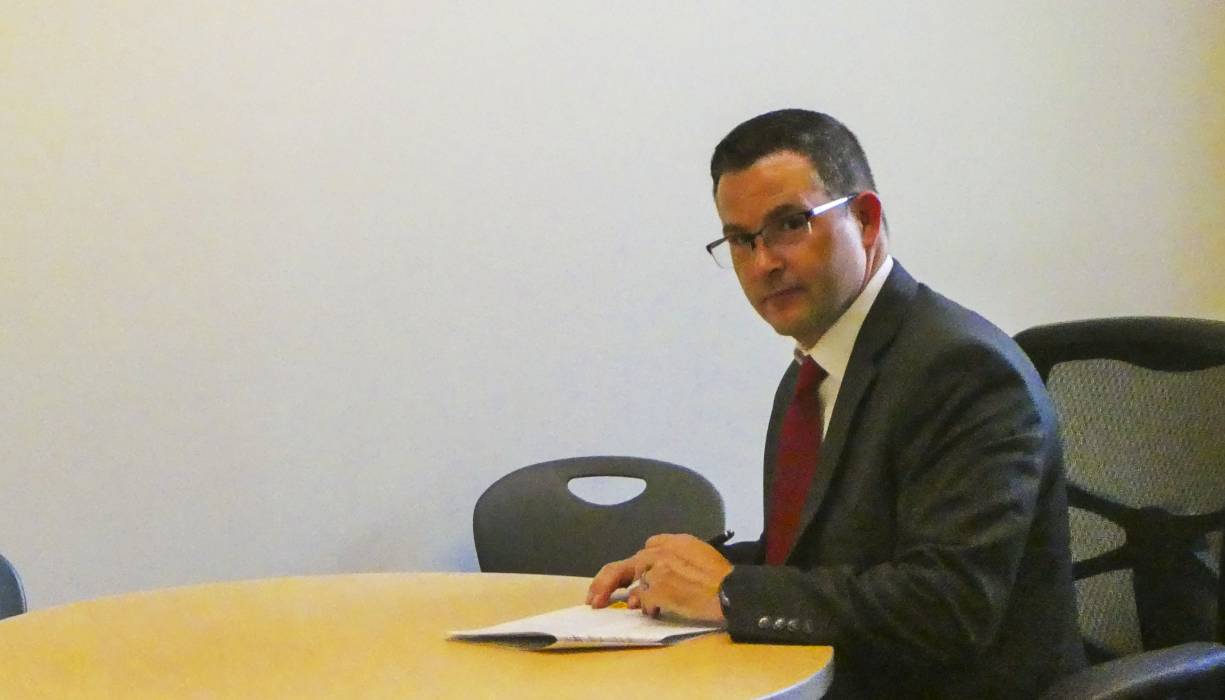 Southbridge Receiver/Superintendent of Schools, Dr. Jeffrey Villar signs the Memorandum of Understanding (MOU) with QCC.