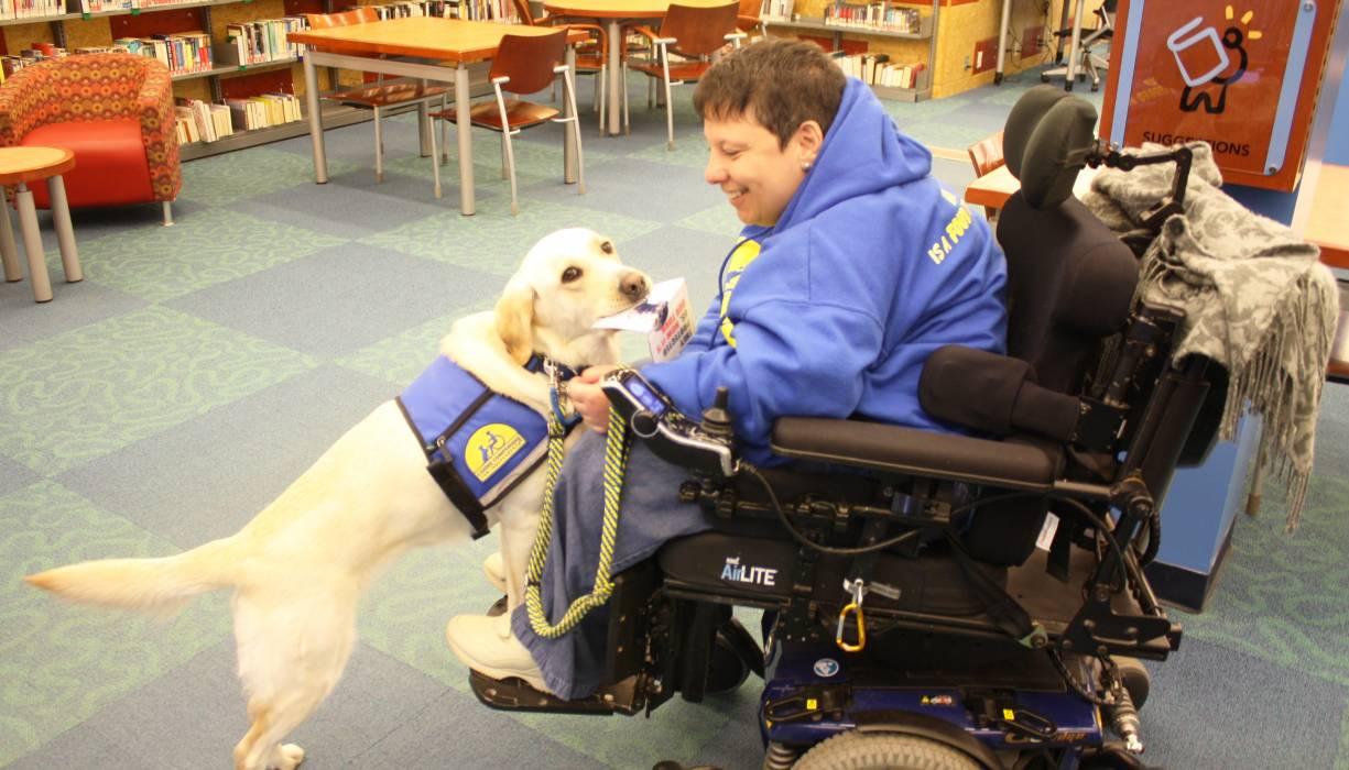Juno became Edith Morris's new service dog and lifelong companion.