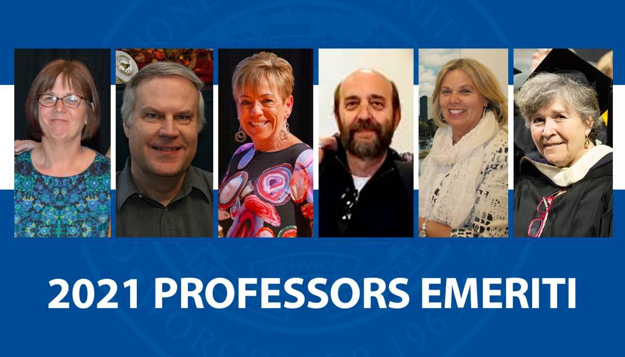 QCC's 2021 Professors Emeriti