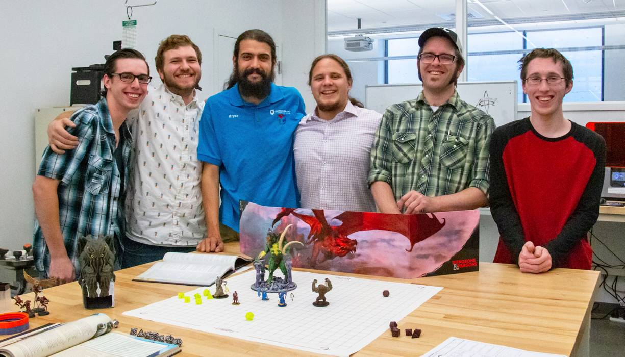 Game-minded students work with QCC's Fab Lab instructors to create models of characters, scenery and props for their games.