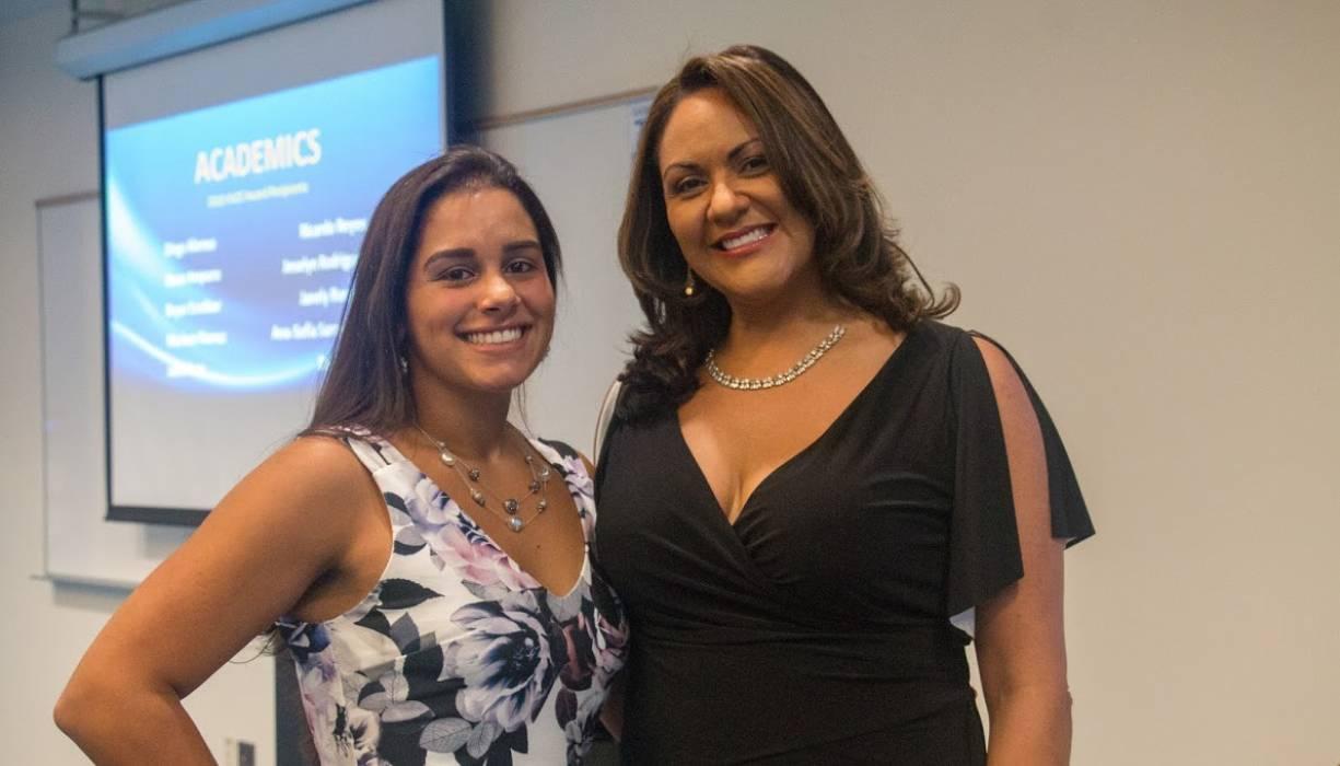 Future Focus Coordinator Gilmarie Vongphakdy (L) and Director of Community Bridges Deborah Gonzalez.