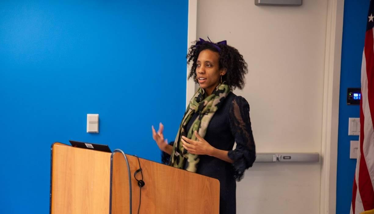 Bridgett Hylton, Esq. discussed the history behind the Black vote in February 2020.