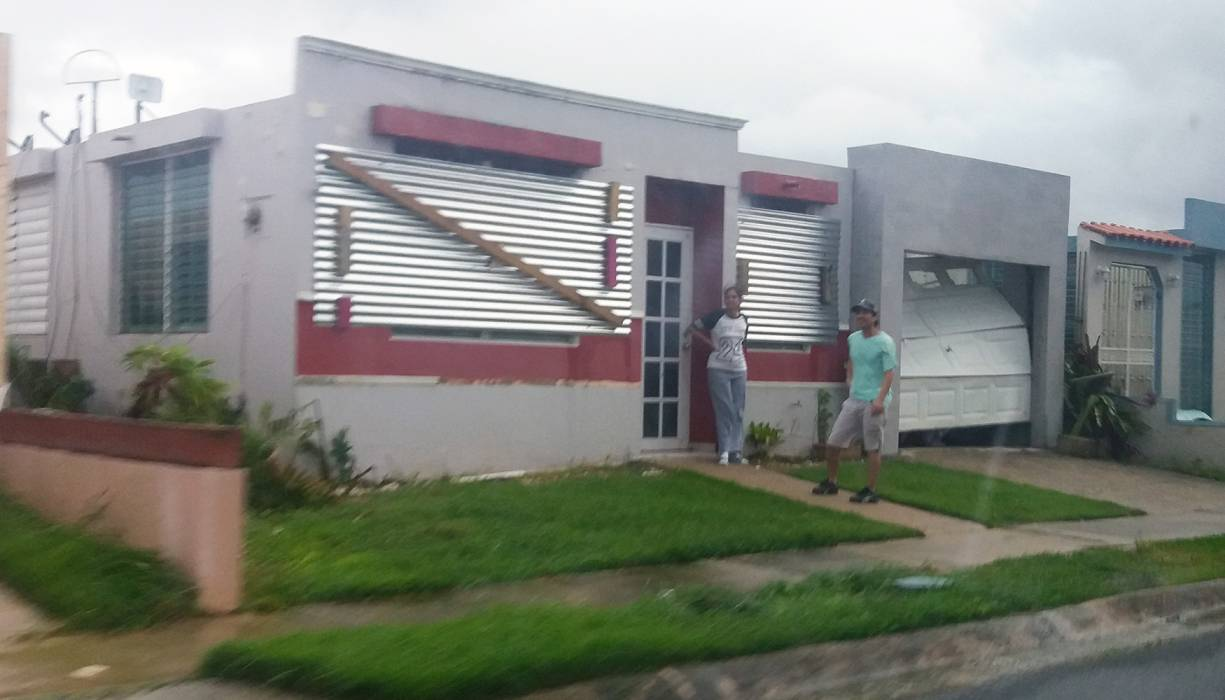 Damaged caused by Hurricane Maria.
