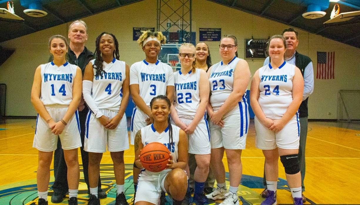 "The 2019-2020 Women's Basketball teeam led by Devine ""Dee Dee"" Johnson."