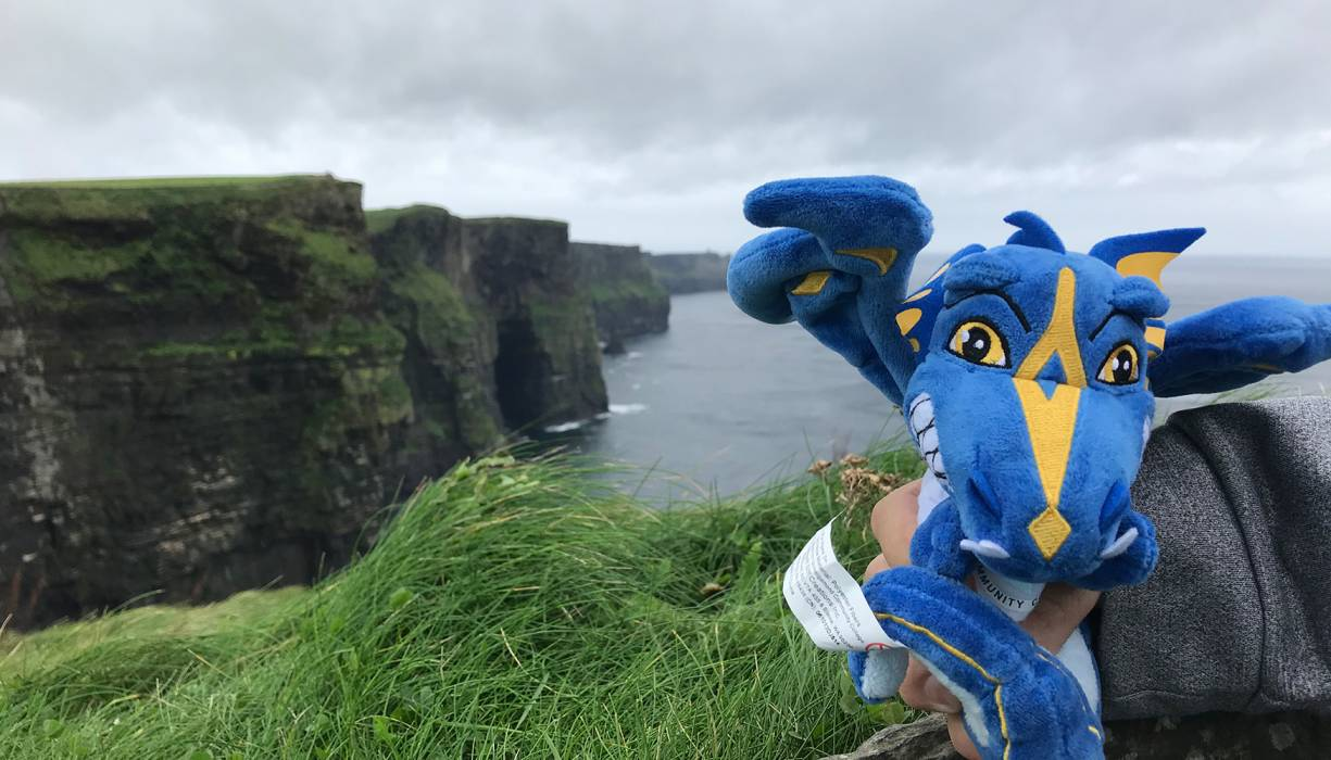 The Wyvern visited the Cliffs of Moher.