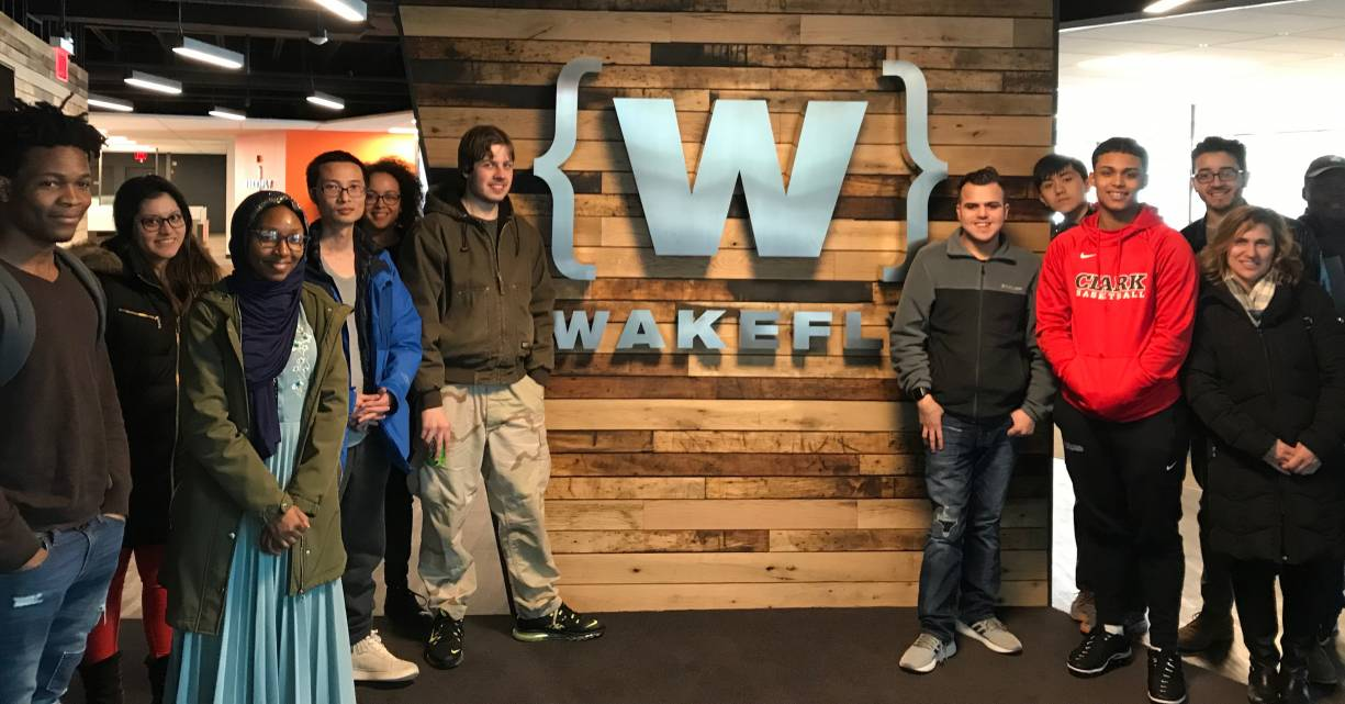 The STEM Starter Academy sponsored a visit to Wakefly in March for students to learn about the company and its technologies.