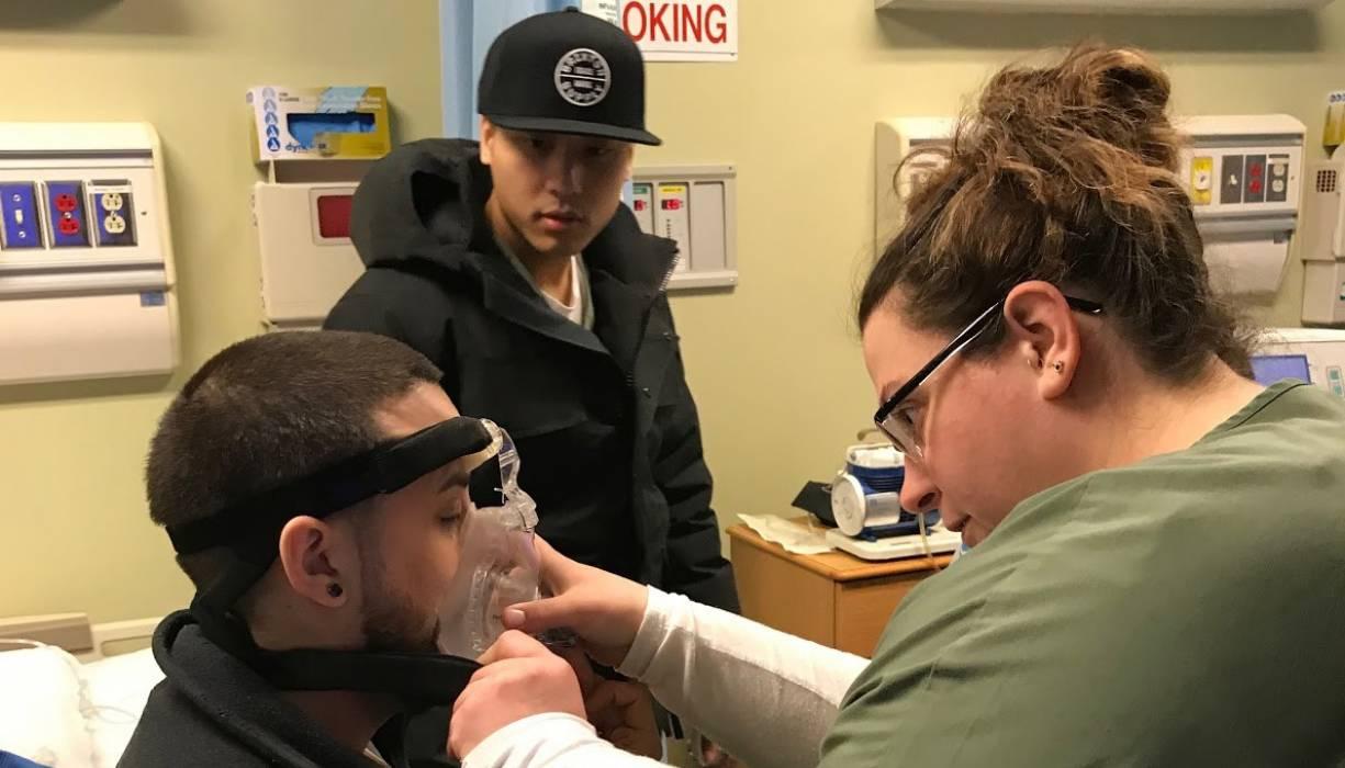 QCC's Respiratory Care program offers student Megan Romero hands-on training