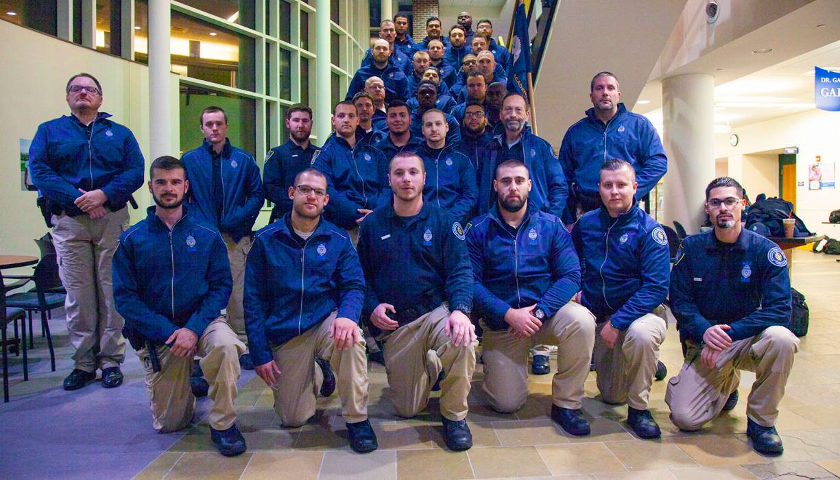 QCC Police Academy Cadets took part in No Shave November, an annual event for cancer awareness.