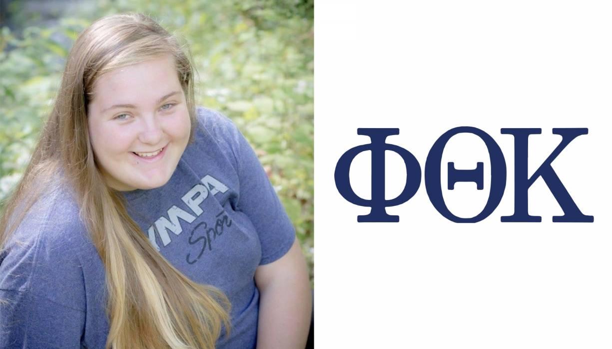 QCC student and PTK member Savannah Vangel.