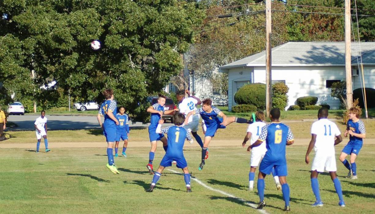 QCC Men's Soccer team