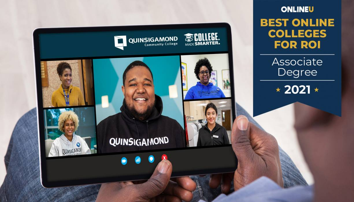 QCC's online degree programs were named fifth best in the nation.