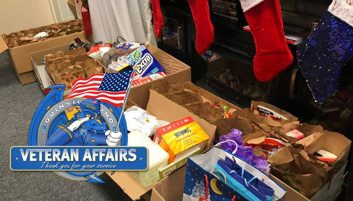 """QCC's Veteran Affairs makes a difference through """"Operation: Care Package."""""""