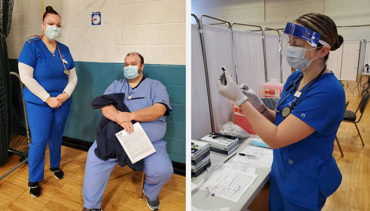 At Southbridge Armory practical nursing students become a part of history, administering COVID-19 vaccines to healthcare workers