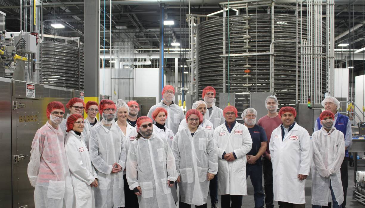 QCC students visit Table Talk Pies during Manufacturing Month.