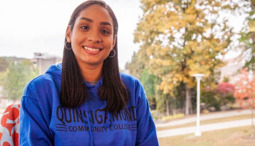"Quinsigamond Community College student Luceily ""Lucy"" Ortiz"