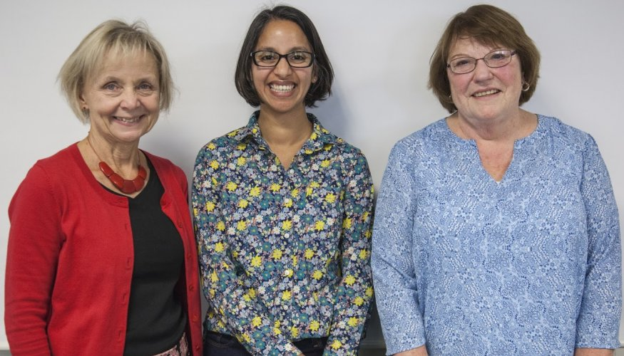 From left: Susan Mellace, Dr. Darshita Shah (MIT) and Jane Joyce.