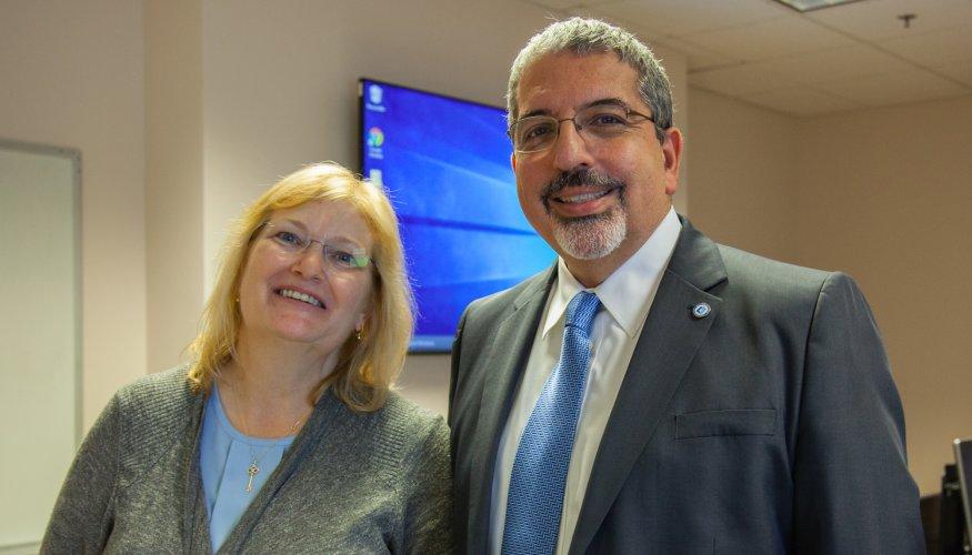 Professor Betty Lauer and Dr. Luis Pedraja