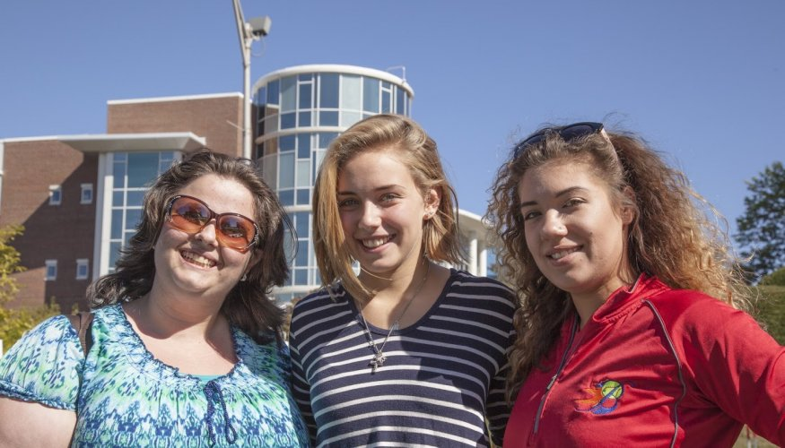 A few QCC students took a quick break between their classes to enjoy the day.