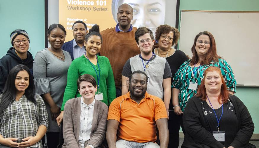 The first graduating class of Student Peer Domestic Violence Advocates