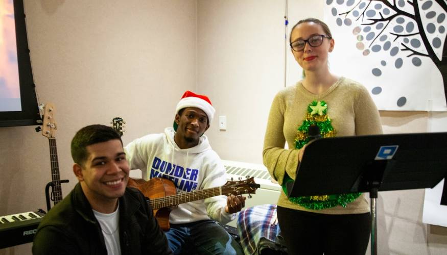 From left: PTK students Yozue Davila, Chris Baker and Alyssa Durham.