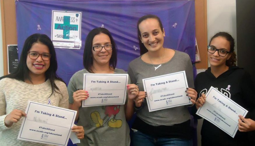 Students Participants of Take A Stand Against Domestic Violence